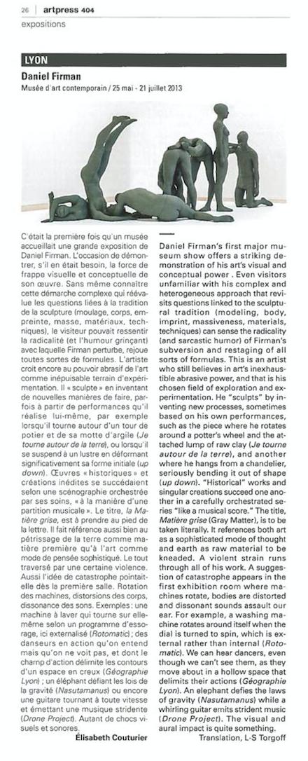 Art Press - Octobre 2013
