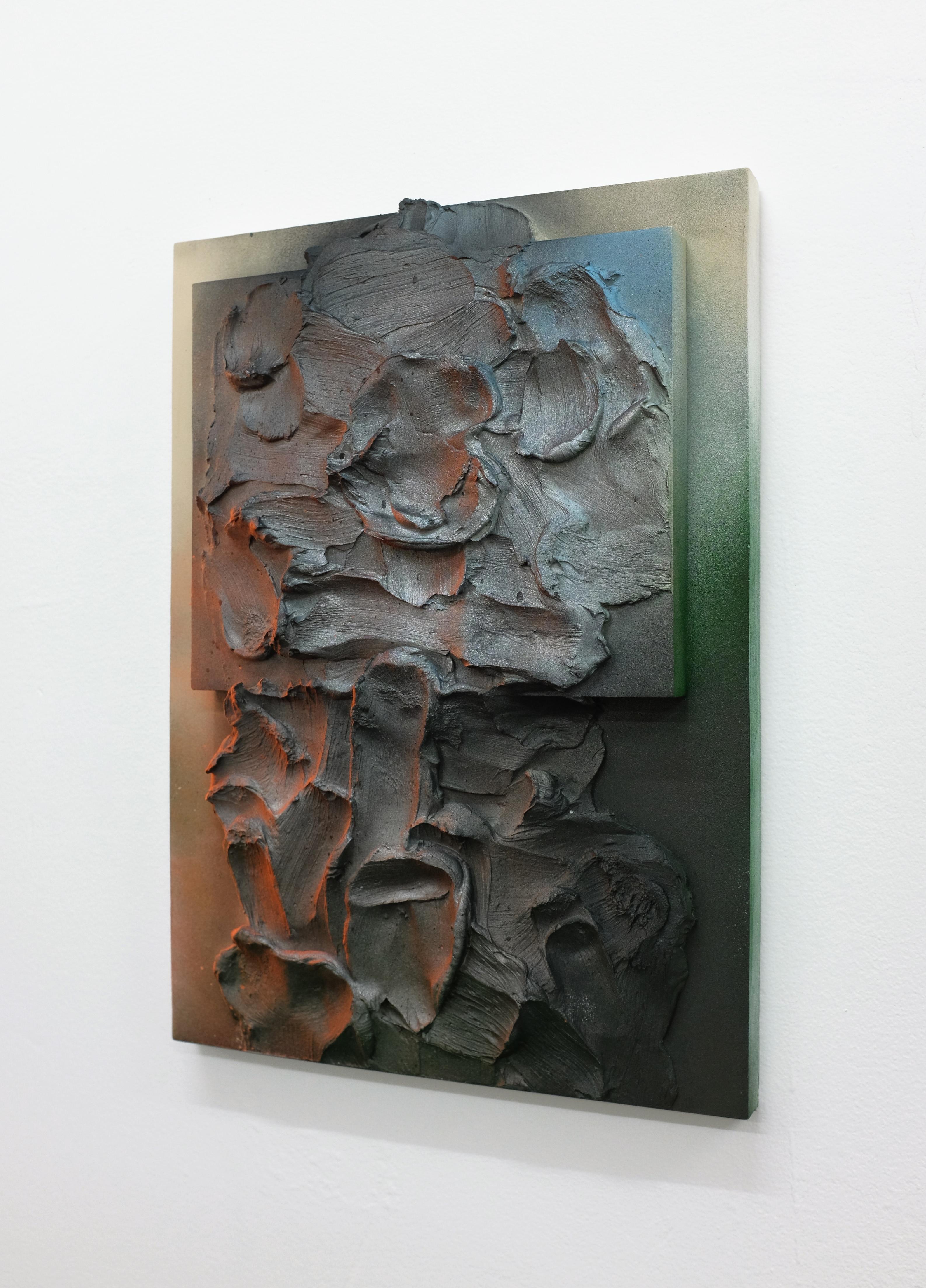Daniel Firman, Modelé avec la langue peint (bas relief) #3 (detail), 2018