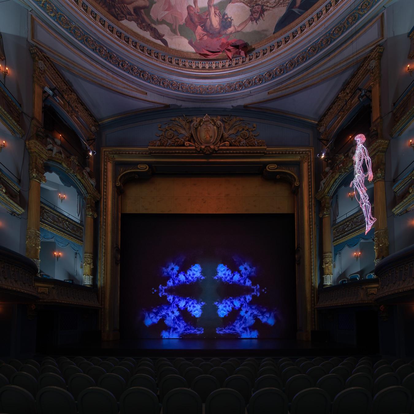 Daniel Firman, Inside, Théâtre Graslin, création 2018 pour Le Voyage à Nantes © Martin Argyroglo _ LVAN